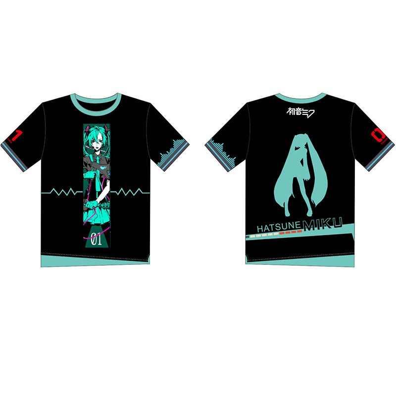 Yeni Anime Hatsune Miku Cosplay kostümleri T-shirt VOCALOID T Shirt pamuk erkekler kadın kostüm yaz yenilik üst Tee kız giyim