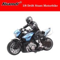 Hohe Qualität 1/8 Hohe Geschwindigkeit Fernbedienung RC Stunt Motorrad Drift Auto 35 minuten Stunt Zeit mit Led-leuchten für kinder Geschenk