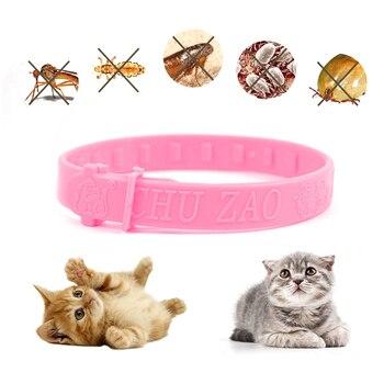 Perro gato Collar repelente de mascotas ácaros pulgas mosquitos cuello de protección para mascotas Collar ajustable para mascota accesorios para gato perro