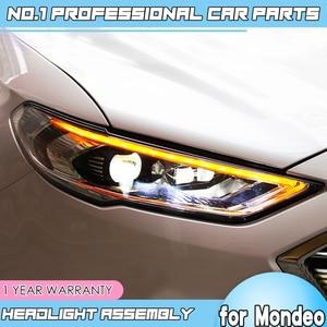 Image 1 - Accessoires de voiture pour Ford Mondeo LED, 2016, 2018, phare pour feux de Fusion, clignotant dynamique, DRL, bi xénon HID, LED