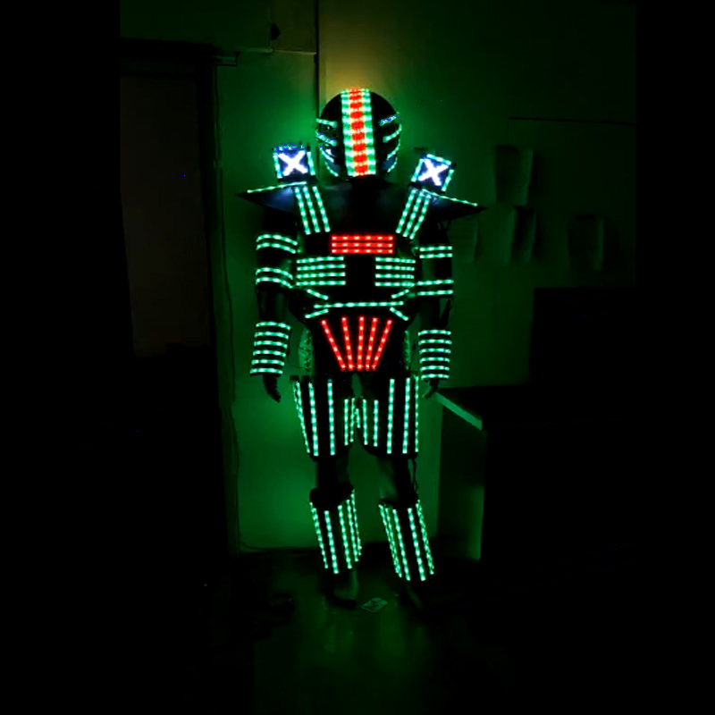 LED robot Costume /Light suits/ LED Robot suits/ The programming controller sets the helmet