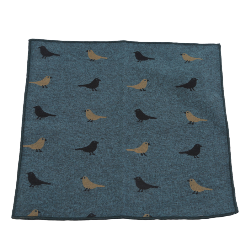 Little Bird Handkerchief  Cartoon Printed Blazer Pocket Towel Casual Suit Pocket Towe Exquisite Pattern Handkerchief