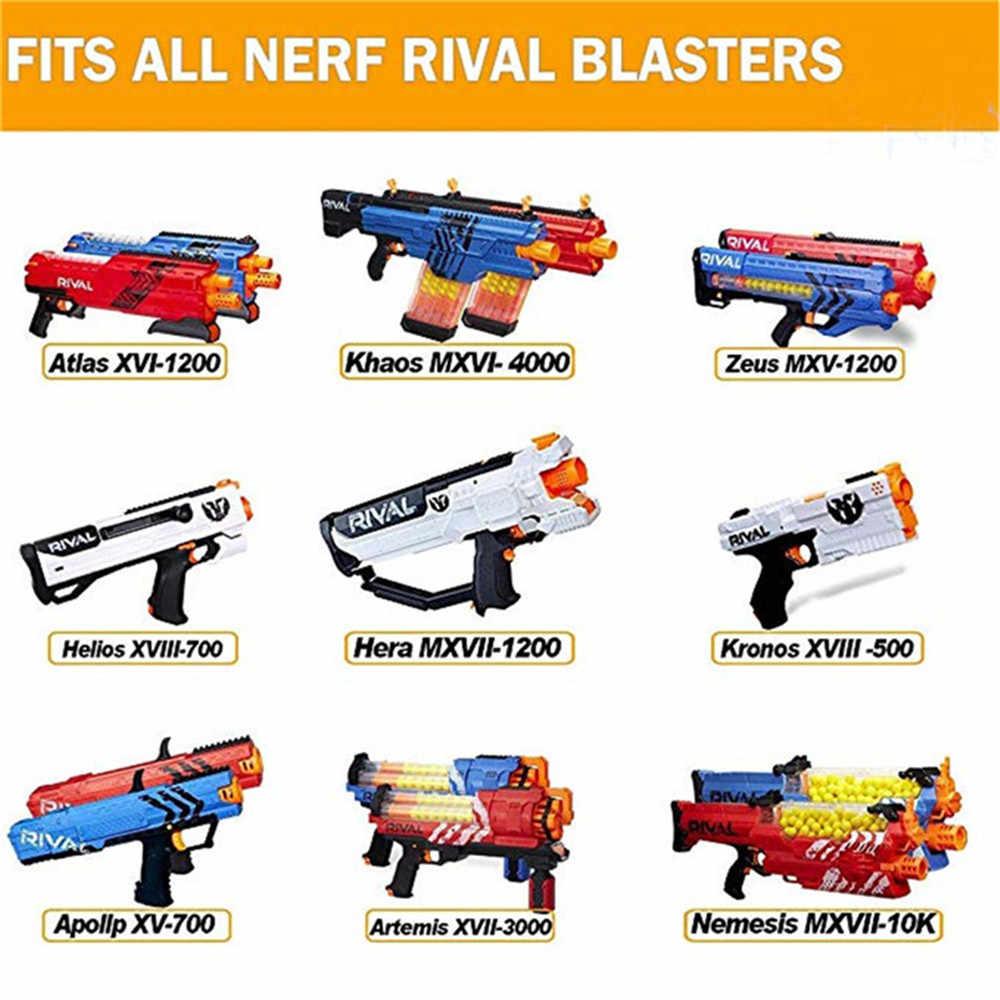 Bộ 100 Xanh Dương Cho Súng Đồ Chơi Nerf Đạn Chắc Chắn Đầu Tròn 7.2 Cm Đổ Lại Phi Tiêu Trẻ Em Chơi Phụ Kiện Viên Đạn Cho Súng Đồ Chơi Nerf loạt Blasters
