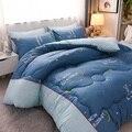 2cf luxo impresso 4 estações cobertor quente/confortável cama enchimento gêmeo para rei tamanho consolador dos desenhos animados estilo inverno consolador