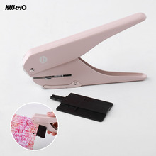 KW trio Handheld DIY Mushroom Single Hole Punch Puncher Paper Cutter with Ruler for Office Home School Students