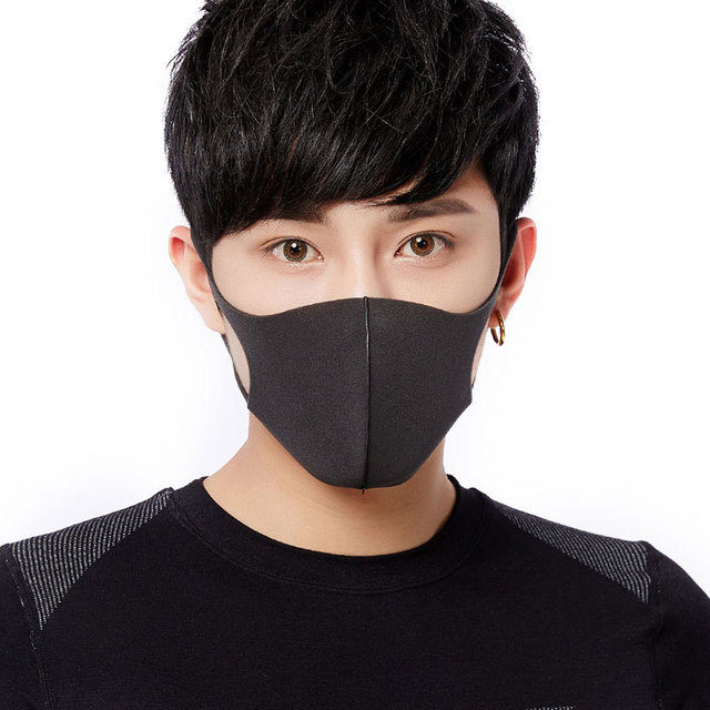 5Pcs Anti Dust Black Fashion Face Mouth Mask Filter Windproof Mouth-muffle Bacteria Proof Flu Face Masks Care Reusable Washable 1