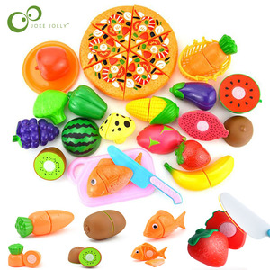 New 1 Set Safe Children Play House Toy Plastic Food Toy Cut Fruit Vegetable Kitchen Baby Kids Pretend Play Educational Toys ZXH