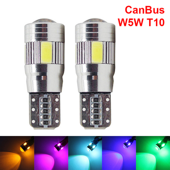 2X W5W T10 Car LED CanBus Amber Clearance Lights Bulbs For Alfa Romeo 159 BMW E46 E39 E36 E90 Audi A3 A6 C5 A4 B6 B8 Hyundai MG image