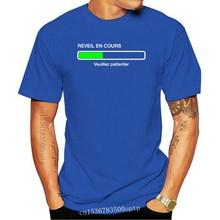 Men t shirt humour geek En cours de reveil veuillez patienter - Manches courtes - Homme t-shirt tshirt women