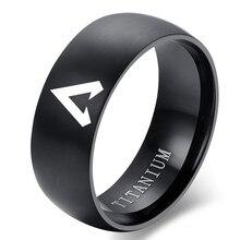 Anel de aço inoxidável anel de aço inoxidável para freind melhor presente anel de campeonato anéis