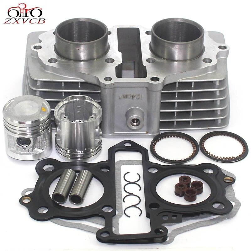 Kit de cylindre de moto 44MM pour Honda CB125 T TWIN CB125T CBT125 CBT 125 CB 125 T joint d'anneau de Piston