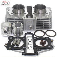 motorcycle cylinder kit 44MM for Honda CB125 T TWIN CB125T CBT125 CBT 125 CB 125 T Piston ring gasket