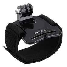 цена на For wrist strap Adjustable Tape Strap Arm Mount Wrist Band Screw Mount Action Camera For Xiaomi For Gopro sport camera