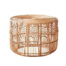 Консольный столик в американском стиле кантри ручной работы журнальный столик из ротанга домашний столик