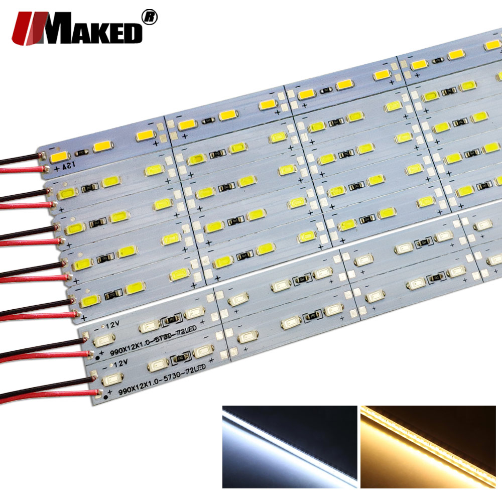 10pcs*50cm LED Bar Strip High Brightness DC12V 36LEDs SMD 5730 LED Rigid Strip Energy Saving LED Fluorescent Energy Saving Tubes