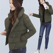 Small Clothes Back Season Special Selling Cotton Woman Short Fund Thickening Easy Cotton padded Jacket Student Bread Serve