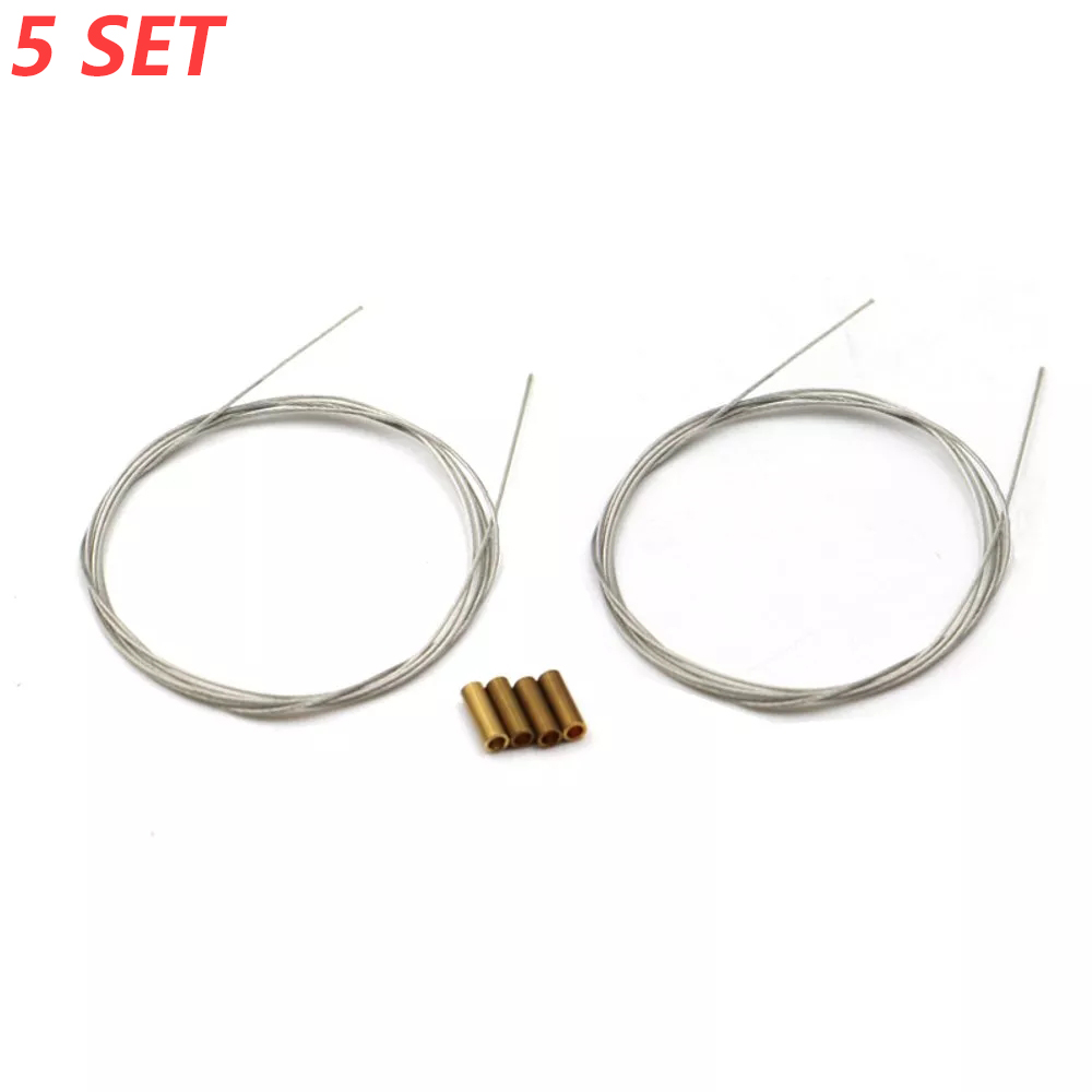 5Set Diameter 0.4mm/0.6mm/0.8mm Soft Steel Wire 2m+copper tube For RC Airplane Servo Push Rod Connecting Rod Accessories image