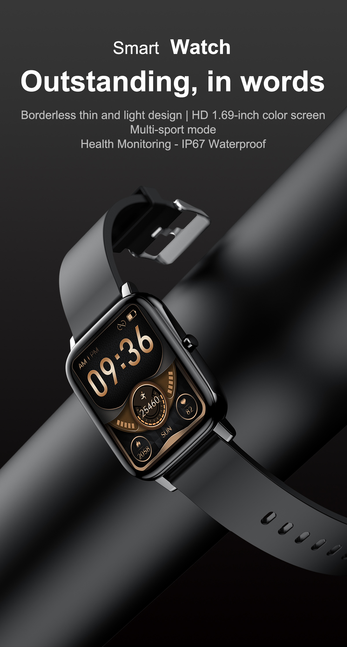 Novo h80 relógio inteligente de monitoramento de