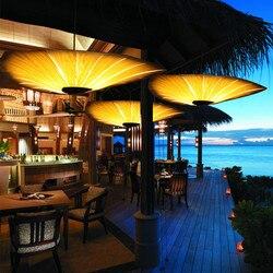 Minimalistyczny styl bambusowa lampa do salonu oświetlenie do restauracji w stylu chińskim drewniane lampy fornir jadalnia oświetlenie do pokoju darmowa wysyłka