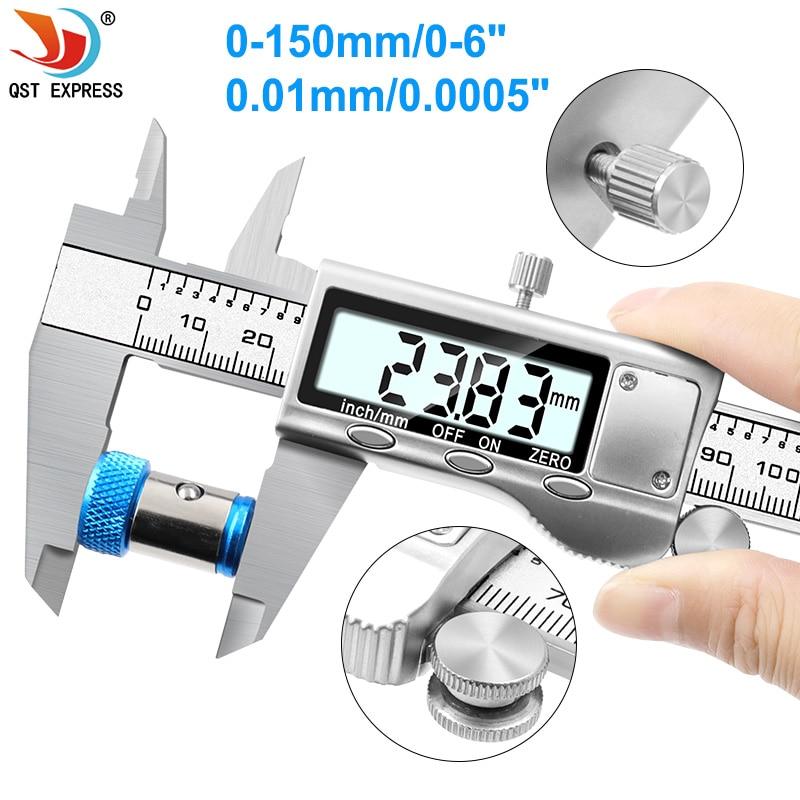 0-150mm Vernier Caliper Measuring Tool Stainless Steel Digital Caliper 6 Inch Measuring Instrument