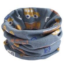 Осенне-зимний детский хлопковый шарф, детский шейный шарф, Мультяшные шарфы для мальчиков и девочек, Детский Теплый шейный платок с круглым вырезом