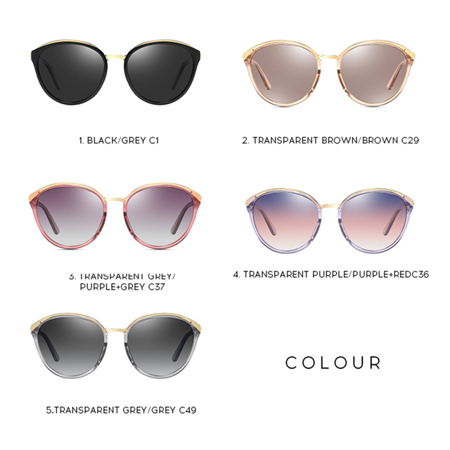 2020 Fashion Retro Cat Eye Sunglasses for Women Luxury Brand Designer Vintage Polarized Oversized Sunglasses UV400 5