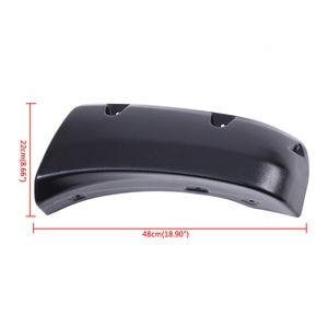 Image 3 - 4x Plastic Car Body Wheel Eyebrow Flares Fender Flexible Durable Mud Flaps Mudguard Fits 04 14 Nissan Titan With Lockbox Only