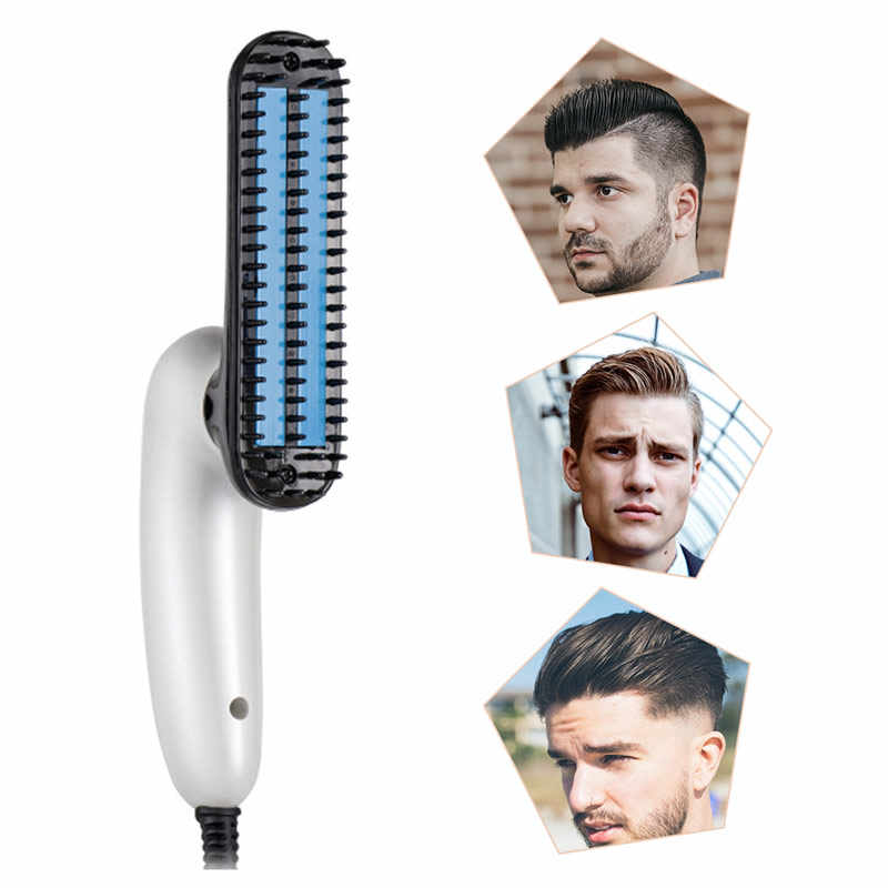 New straight hair styling for men electric comb to smooth the beard comb 360 degree rotation automatic straight hair brush