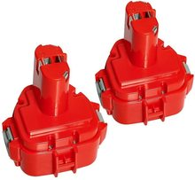 2 pieces for Makita battery 12 V 3.0 Ah tool battery for Makita 1220 1222 PA12 1233S 1234 1233 1235 1235B 1235F 192696-2 pa12 p12a