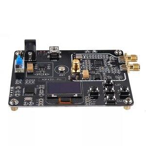 Adf4351 módulo gerador de sinal sintetizador de freqüência circuito integrado ampla tensão rf placa de desenvolvimento oled display 35 m-4.4g
