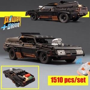 2020 New Black Interceptor RC Muscle Car Supercar MOC-35846 Technic Model blocks Building Blocks Bricks Toy Kid Gift Lepinings