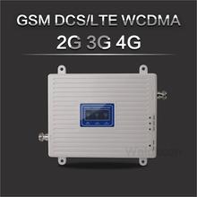 Beyaz 900/1800/2100 hücresel amplifikatör 2G GSM 3G WCDMA 4G DCS 900 1800 2100 MHz sinyal tekrarlayıcı 4G LTE güçlendirici ile LCD ekran