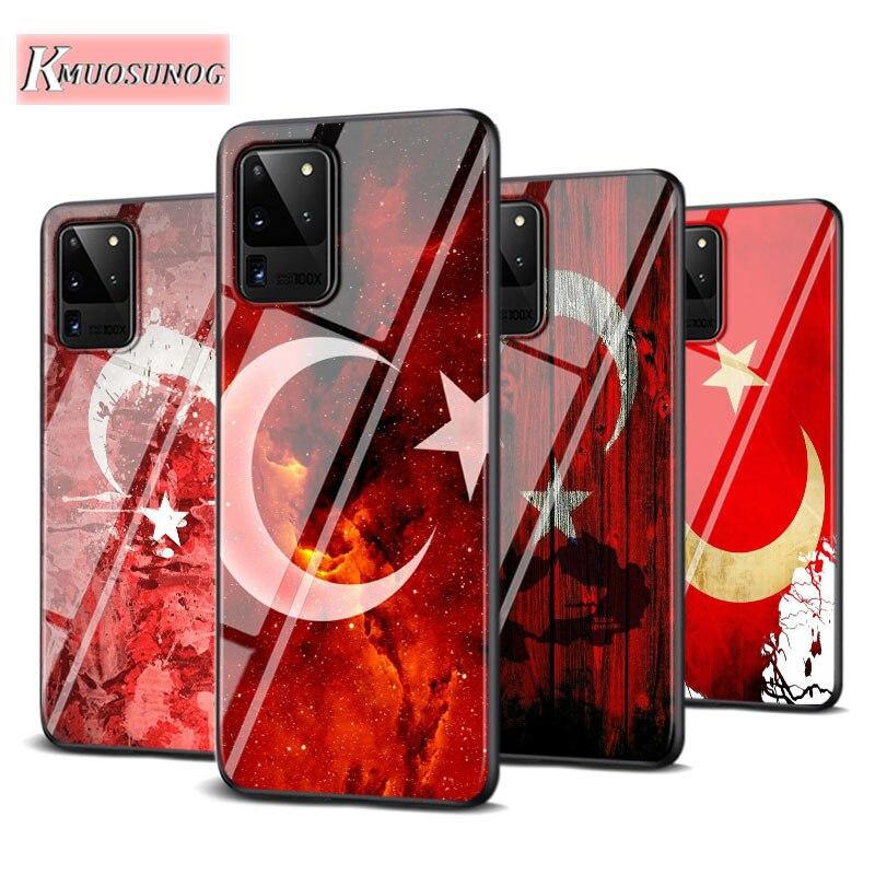 Turkey Flag Art for Samsung Galaxy Note 10 Lite S20Ultra S20 Plus A01 A21 A51 A71 A81 A91 Super Bright Phone Case