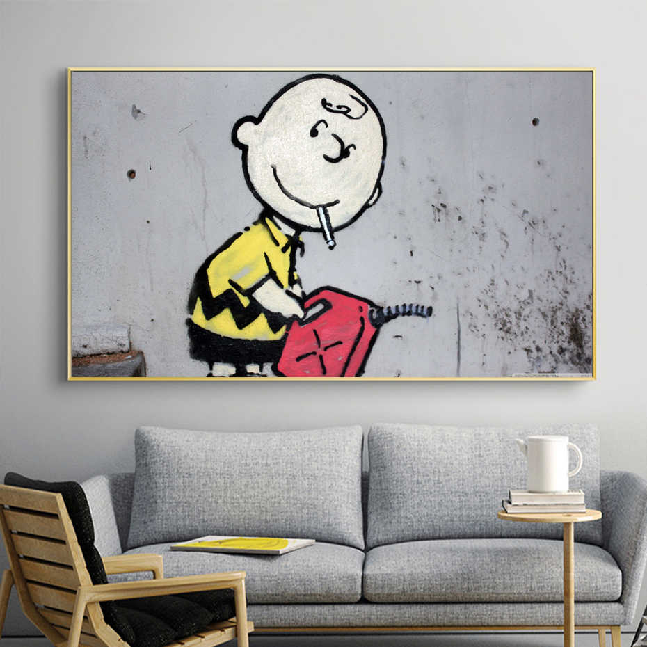 北欧キャンバスプリントラブリーボーイグラフィティポスターキャンバス壁アート絵画装飾プリントポスターキッズルームのホームインテリア