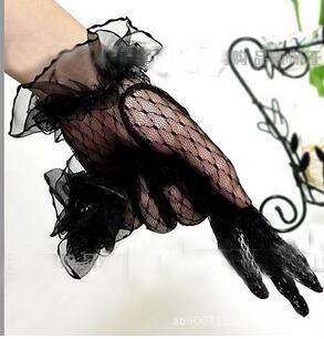 Black Lace Gloves Fingerless Wedding Accessories Wedding Gloves Accesorios Boda Beige Beaded Lace Black Lace Gloves