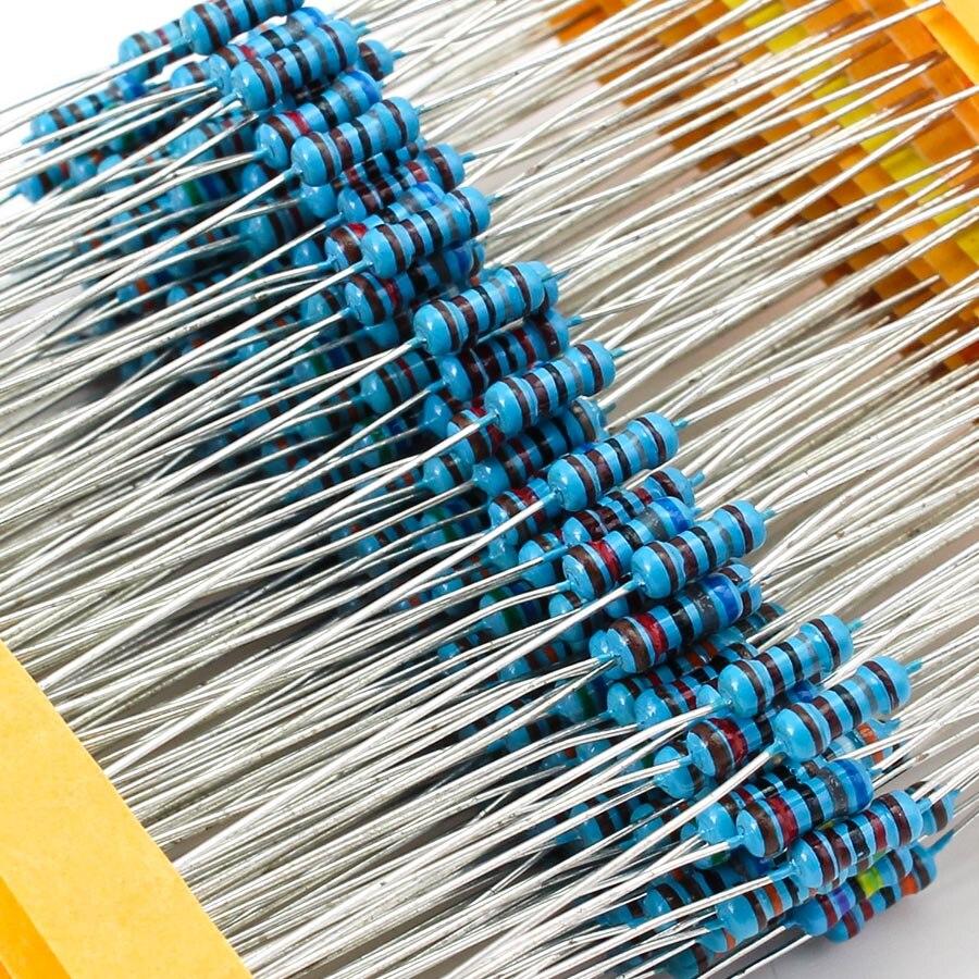 Купить 1/4 вт 30 значений набор металлических пленочных резисторов