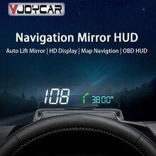 جهاز عرض جديد من Vjoycar موديل 2021 مزود بمرآة للرفع التلقائي HUD جهاز عرض سرعة في الدقيقة جهاز عرض استهلاك الزيت تطبيق تشغيل أندرويد وios