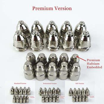 цена 20pcs Premium P80 Plasma Cutting Torch Consumable Cutting 60A 80A 100A P80 CNC Plasma Torch Tip Electrode Nozzle онлайн в 2017 году