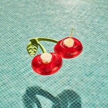 Надувная мини подставка из ПВХ в форме вишни для воды бассейна