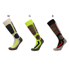 New Winter Warm Men Thermal Ski Socks Cycling Socks Thick Long Socks Outdoor Skiing Hiking Running Basketball Socks Absorb Sweat men outdoor sportswear winter socks thick towel bottom skiing socks protect ankle hiking walking athletic keep warm sports socks