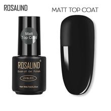 Top-Coat Polish ROSALIND Semi Matt Lacquer 7ML Nail-Gel Vernis Permanent Soak-Off