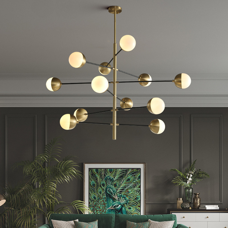 Gold Chandelier Lighting For Kitchen, Glass Bubble Chandelier Lighting