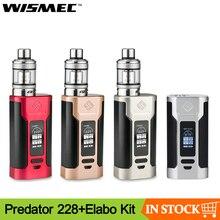 Оригинал Wismec Predator 228 Mod с атомайзер Elabo Vape kit Поддержка двух аккумуляторов 18650 электронная сигарета Kit