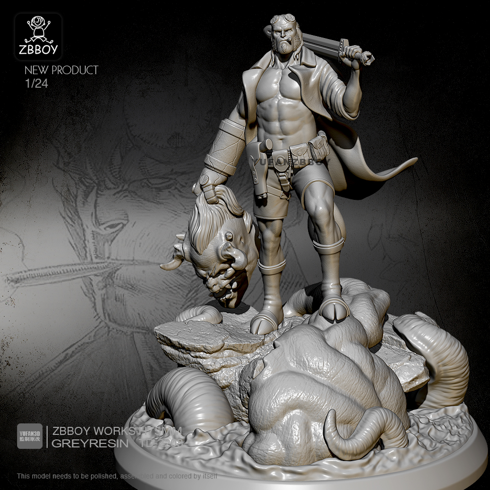 1/24 Resin Figure Kits Hellboy Model Self-assembled TD-2208
