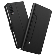 цена на For Xiaomi Mi A3 Case PU Leather Flip Stand Wallet Case Full Body Pocket Cover with Mirror Card Holders and Magnet Buckle Mi A3