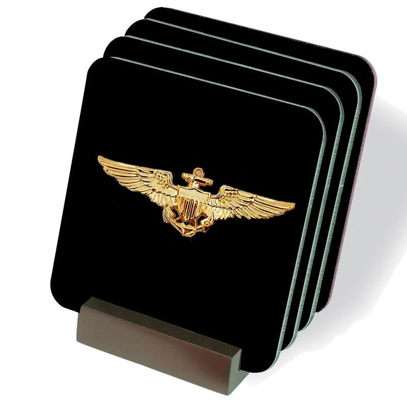 US Aviation Navigation Pilot Badge classic fashion creative unisex brooch pin free shipping men and women jewelry birthday gift(China)
