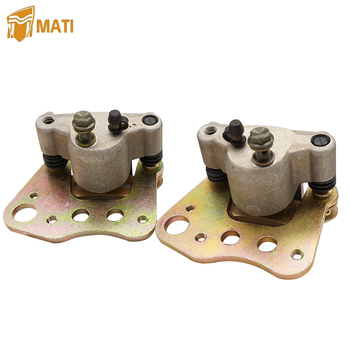 Left Right Front Brake Caliper Assembly for ATV Polaris ATP Magnum 330 500 Sportsman X2 400 450 500 600 700 800 1910841 1910842 for atv polaris atp magnum 330 500 sportsman x2 400 450 500 600 700 800 intl left front brake caliper assembly with pads 1910841