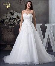 Jeanne Love Свадебное Платье Из Мягкого Тюля, с сердечком, идеально подходит 2020, новая Кружевная аппликация Свадебная вечеринка, платье трапециевидной формы JLOV75951