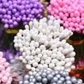 130 шт. 3 мм Двойные головки жемчужные Stamen Pistils DIY искусственные материалы для цветов Скрапбукинг ремесла украшение для торта Цветочные бусины
