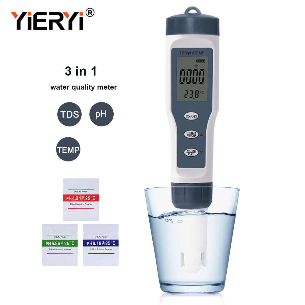 Новый Измеритель Tds Ph/Tds/Ec/измеритель температуры, цифровой тестер качества воды для бассейнов, питьевой воды, аквариумов